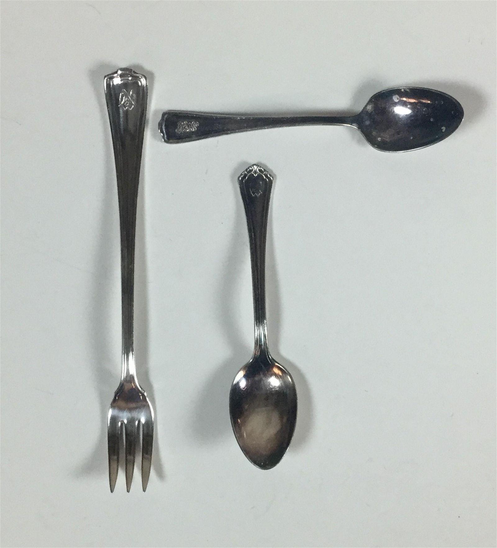 2 Norfolk & Western Railway Demitasse Spoons & a Pickle