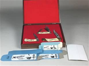 Schrade Cutlery 3 Checkered Flag Series Pocket Knives