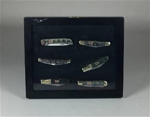 6 Kissing Cranes Pocket Knives