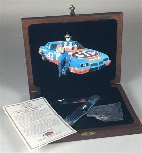 Case XX CB61050 Richard Petty Blue Bone Pocket Knife