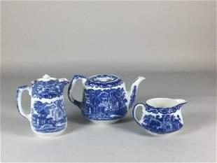 3 Piece George Jones & Sons Abbey 1790 Tea Service