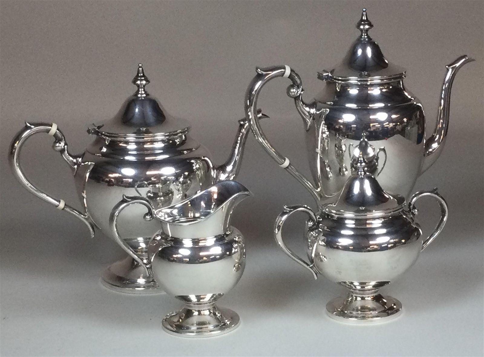 4 Piece Gorham Sterling Tea & Coffee Service