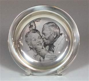 Franklin Mint Sterling 1971 Norman Rockwell Plate