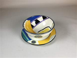 Susan Eslick San Francisco California Art Pottery Bowl