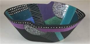Raku Art Pottery Bowl