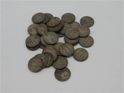 37 Silver War Time Jefferson Nickels