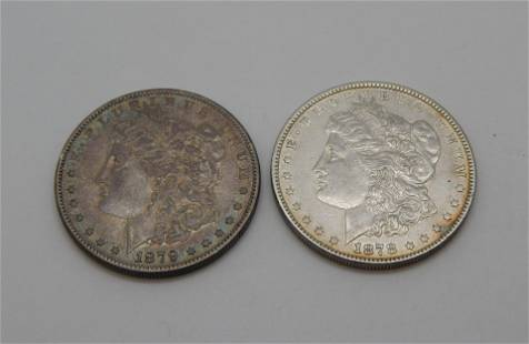 1878 & 1879S Morgan Dollars