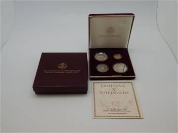 1995 US Olympics Atlanta Centennial Games 4 Coin Proof