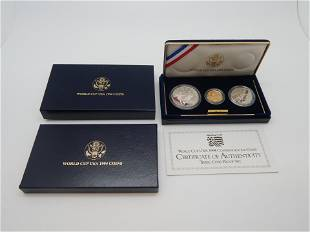 1994 World Cup 3 Coin Proof Set