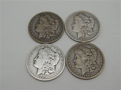 4 Morgan Dollars
