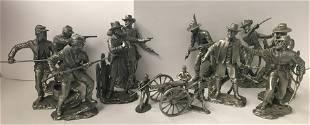10 Blues & Greys Ronald Cameron Pewter Figures & 4