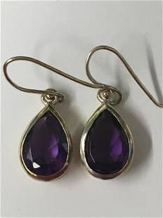 Sterling Amethyst Earrings