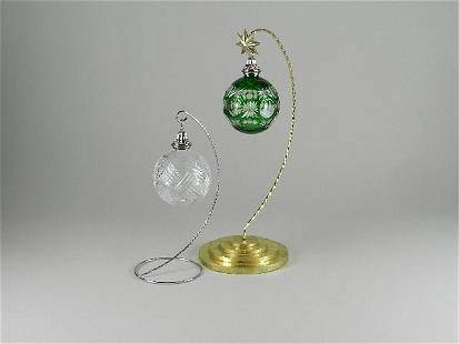 Two Waterford Crystal Christmas Ornaments
