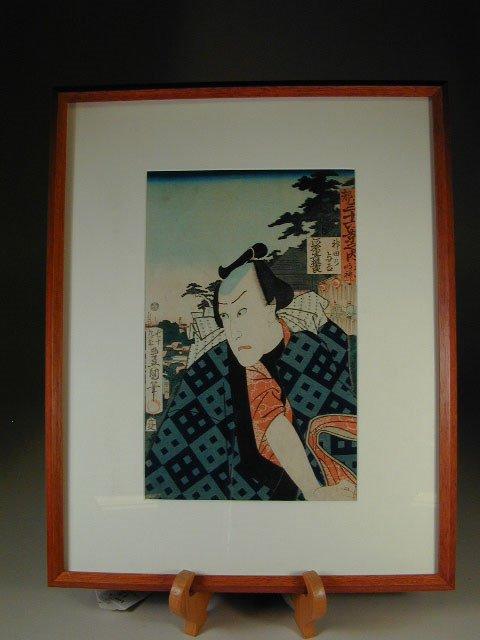 12: Japanese Wood Block Print