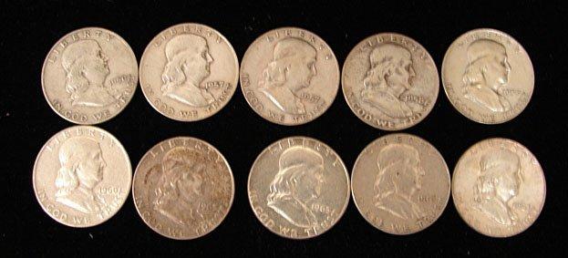 10 Franklin Halves