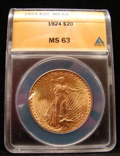 1924 $20 St Gaudens