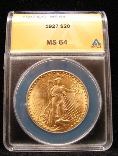 1927 $20 St Gaudens
