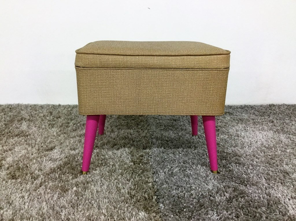 Mid Century Storage Stool