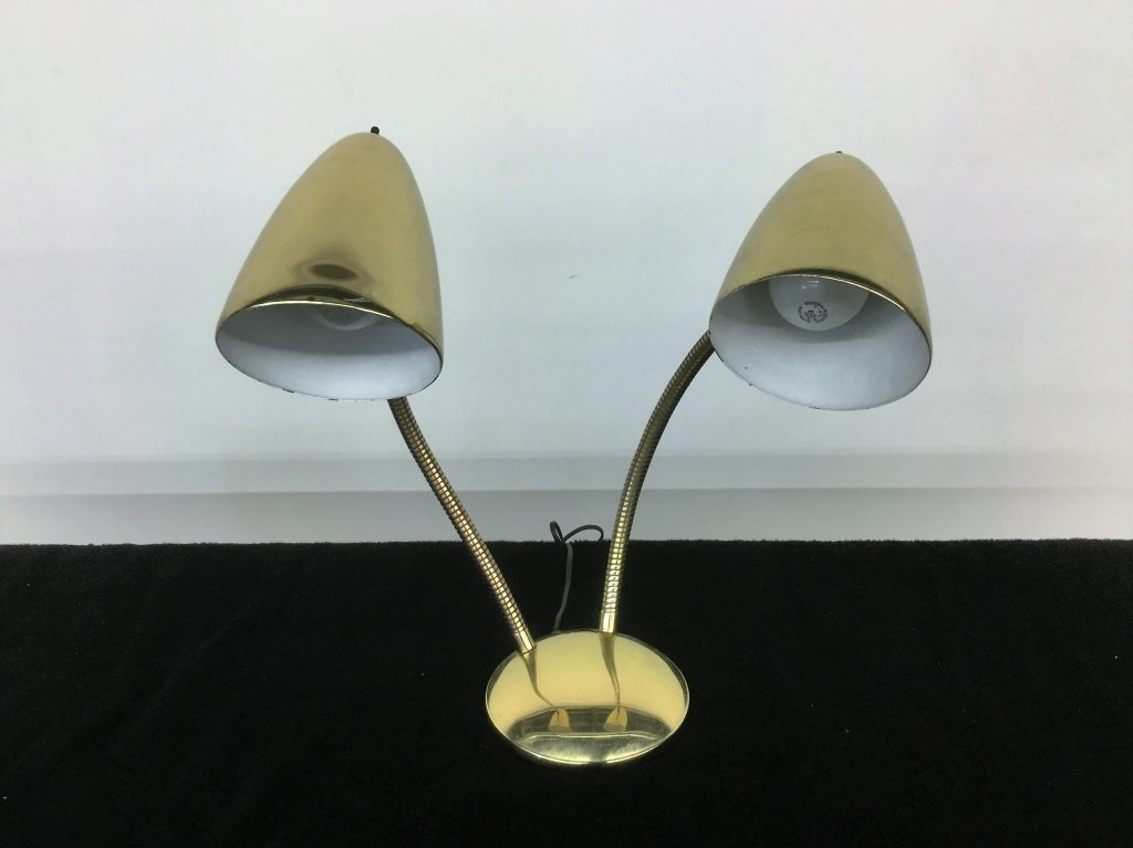 Mid Century Double Goose Neck Lamp
