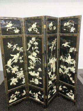 4 Panel Oriental Screen