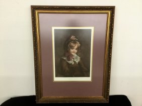 Framed Woman Picture