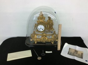 French Clock With Glass Dome