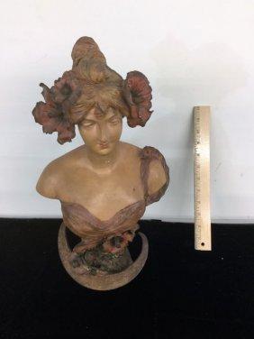 Art Noveau Woman Bust