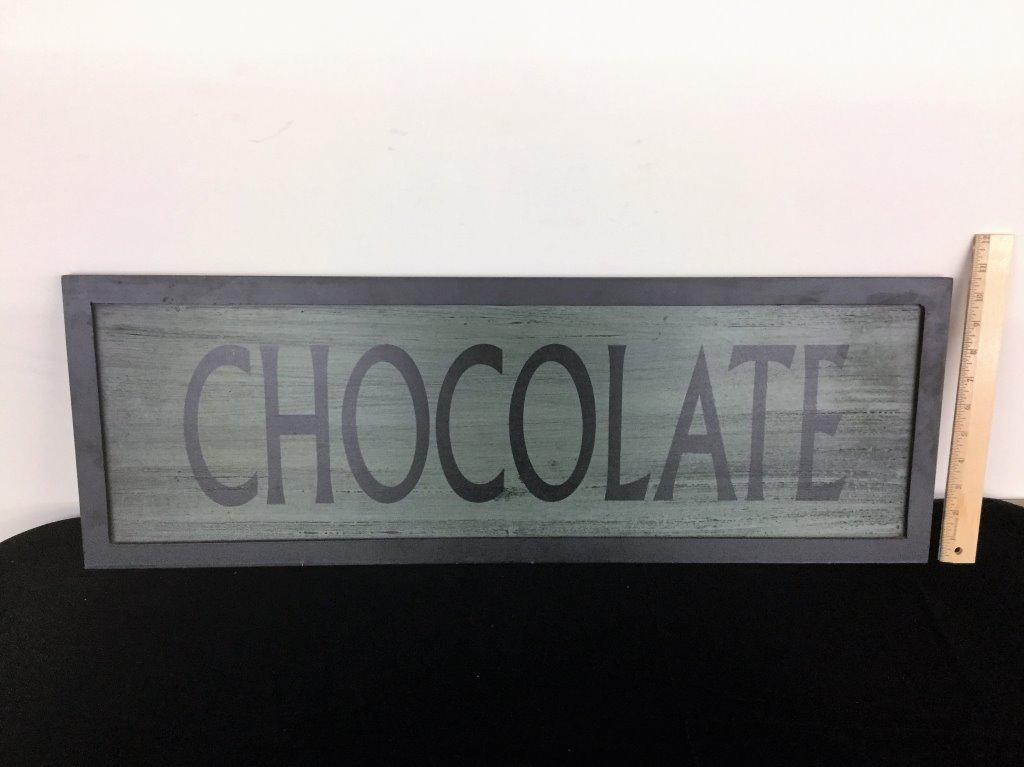DECORATIVE CHOCOLATE SIGN