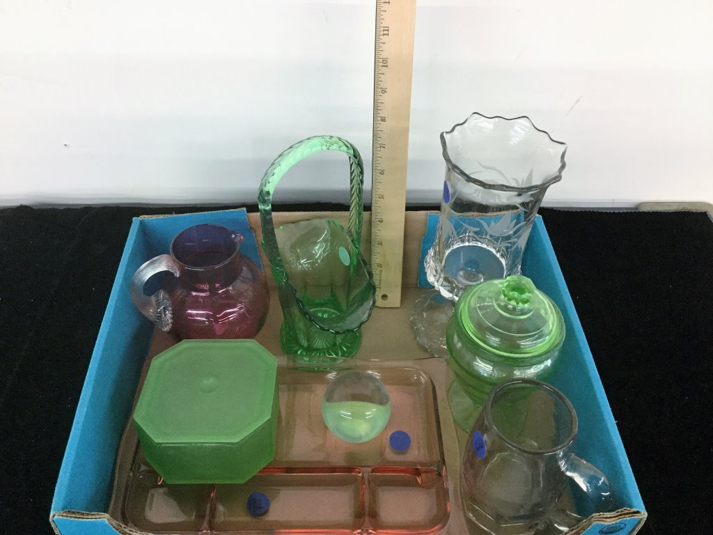 MISC LOT GLASSWARE
