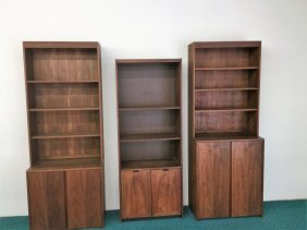 Set Of Three Walnut Bookcases