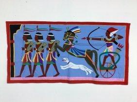 Pair Egyptian Themed Textiles
