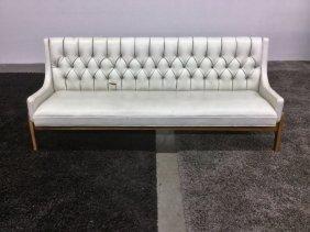 Tufted Mid Century Naugahyde Sofa