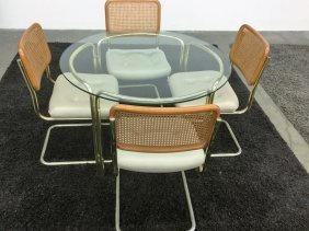 Breuer Glass Table/4 Chairs