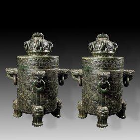 Chinese  Han dynasty great Huge jade incense burner