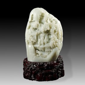 Chinese  Hetian jade figures in the qing dynasty and