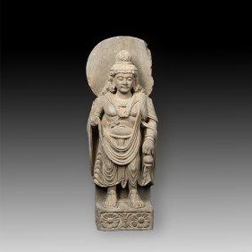 Gandhara Standing Buddha Statue