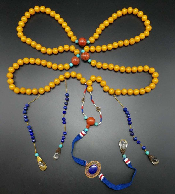 China Amber Court Necklace(108)