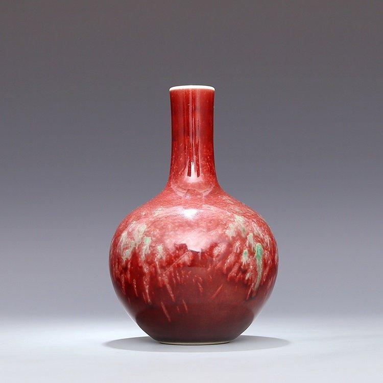 Chinese Qing Kangxi Red Porcelain  Vase