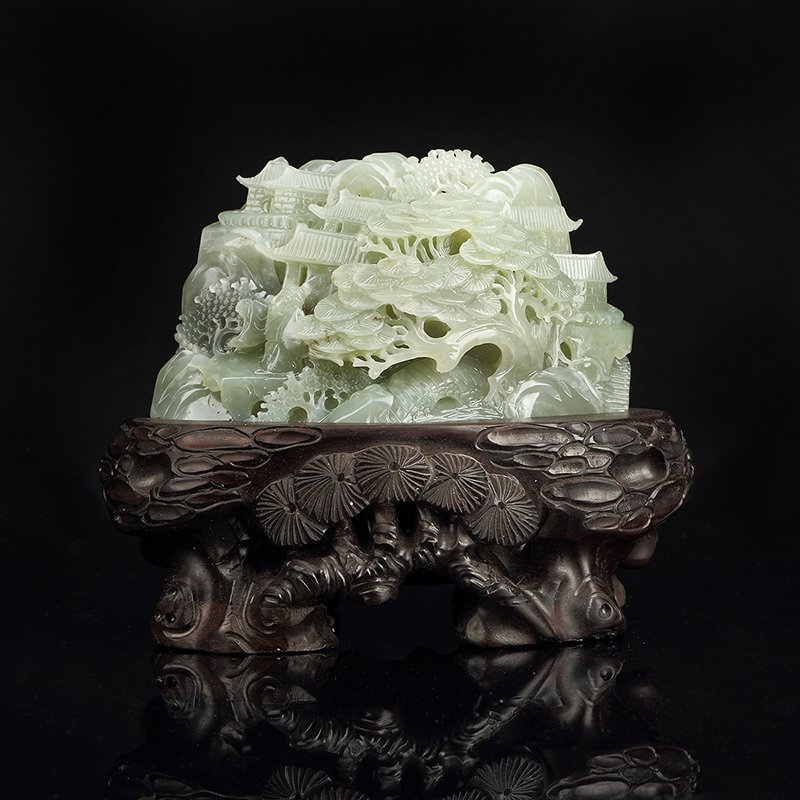 Chinese Hetian White Jade Carved Children Boulder