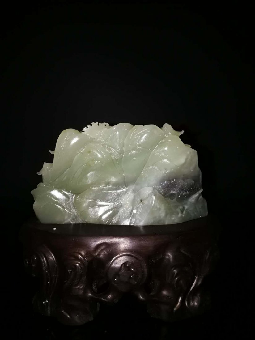 Chinese Hetian White Jade Carved Children Boulder - 4