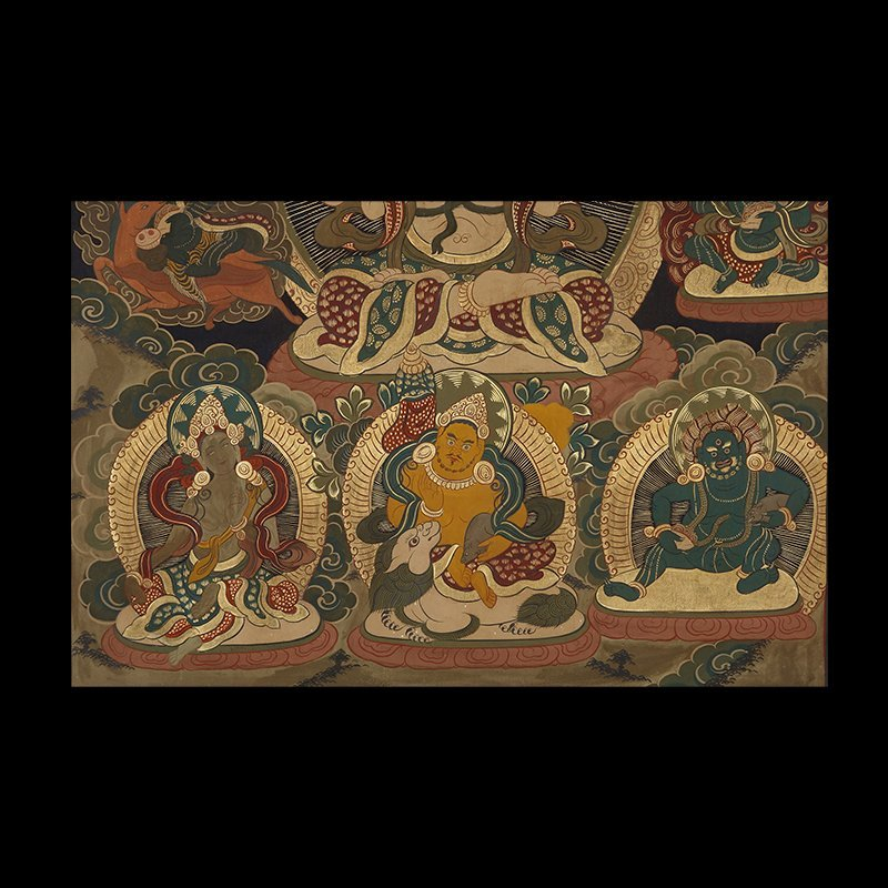 Buddhist Thangka. Tibet. Early 20th century. Mineral - 4