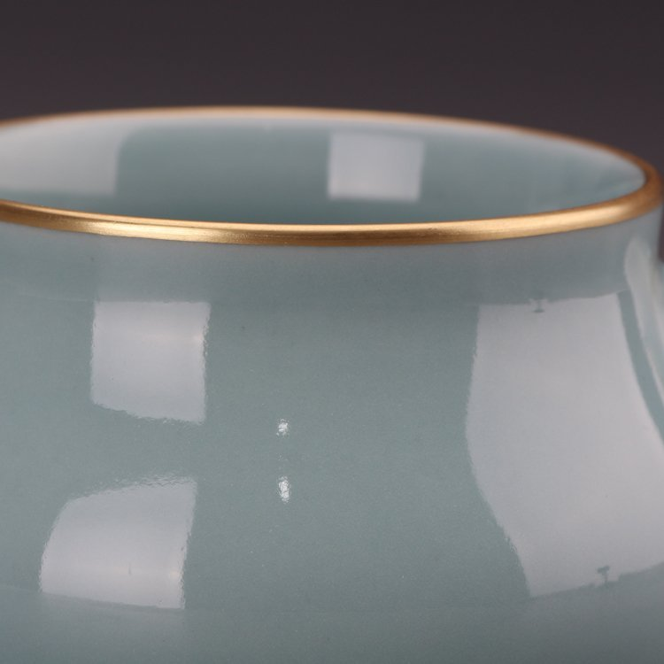 Chinese Powder blue glaze  Porcelain Incense burner - 3