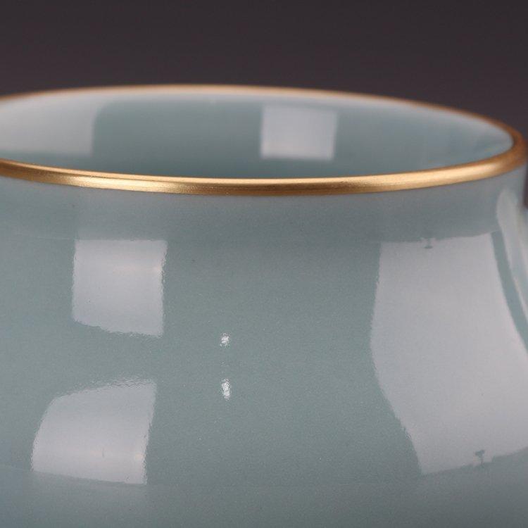 Chinese Powder blue glaze  Porcelain Incense burner - 7