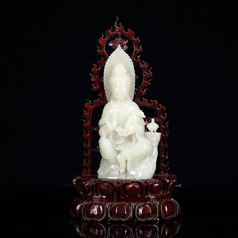 Chinese Hetian Jade Guan Yin