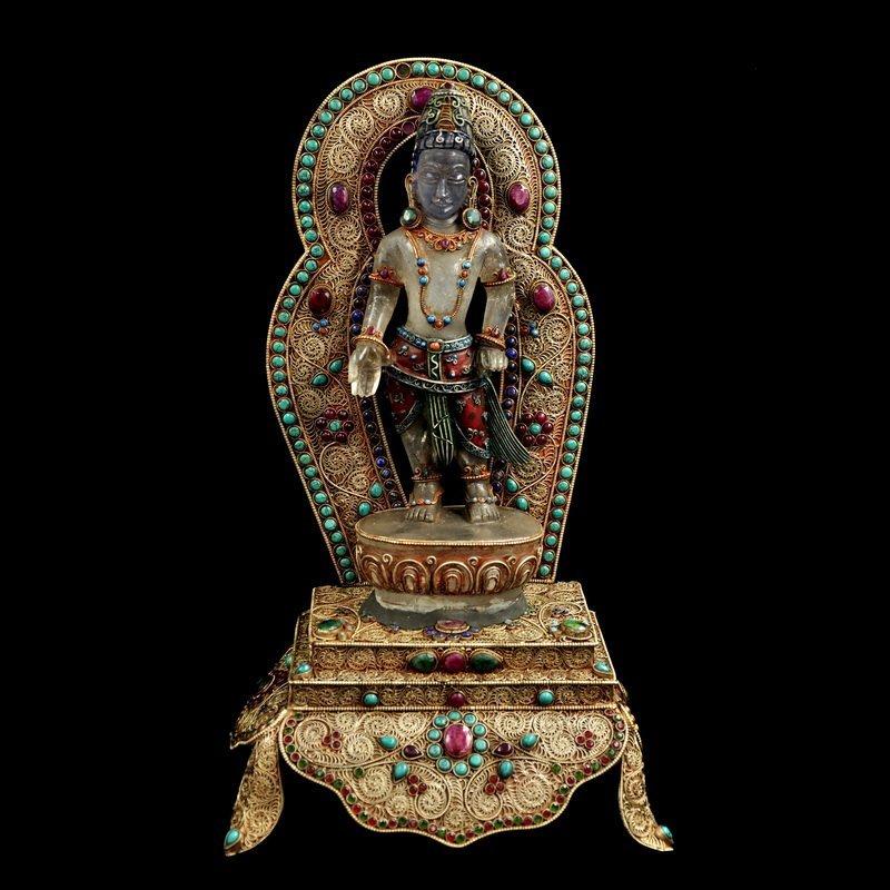 Nepal Fine crystal Buddha