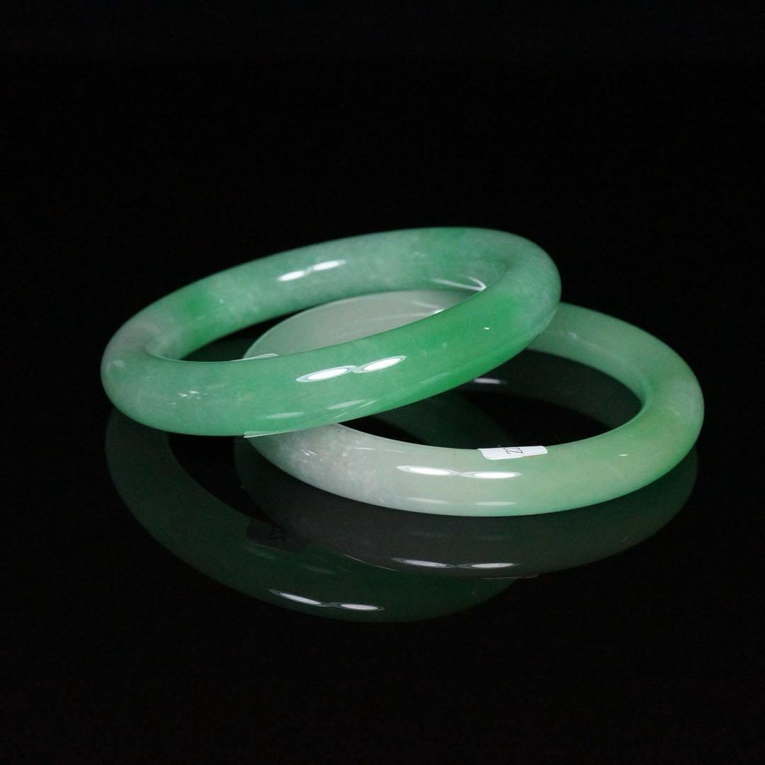 Pair of Chinese Jade Bracelets