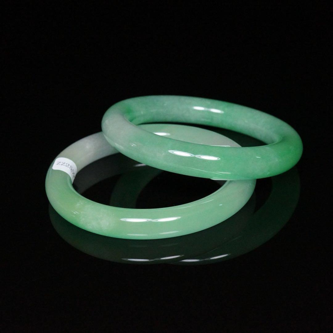 Pair of Chinese Jade Bracelets - 4