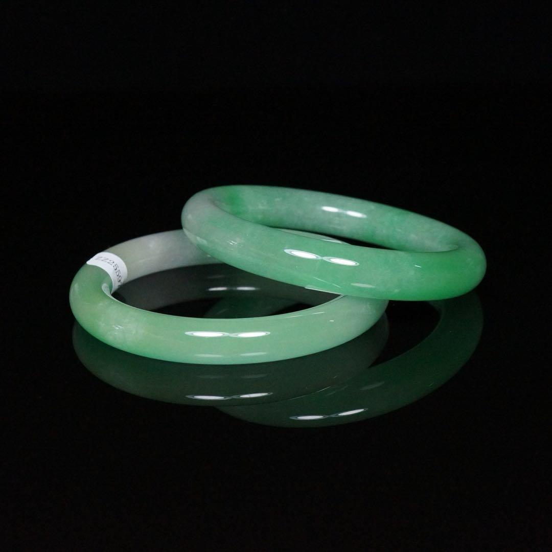 Pair of Chinese Jade Bracelets - 5