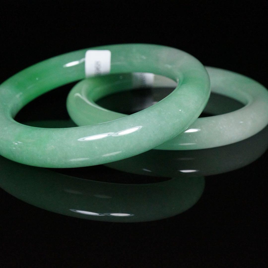 Pair of Chinese Jade Bracelets - 6