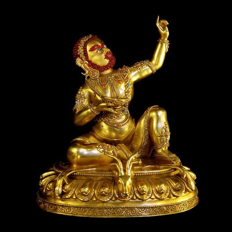 Chinese Qing Dynasty Buddha Mahasiddha